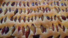 Plaatcake met pruimen