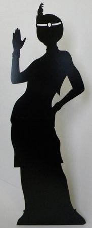 Flapper girl cutout. Could also use jazz players or people dancing.