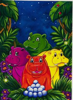 Hungry Hungry Hippos by ~supertotallyfresh on deviantART
