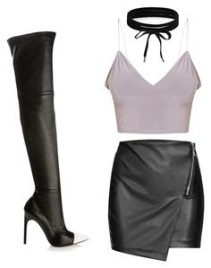 A fashion look from February 2017 featuring bralette tops, bodycon skirt and black leather boots. Browse and shop related looks. Bralette Tops, Body Con Skirt, Black Leather Boots, Boohoo, Givenchy, Fashion Looks, Heels, Skirts, Polyvore