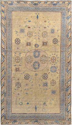 "ANTIQUE SAMARKAND Origin: EAST TURKESTAN Size: 4' 6"" x 7' 9"" Rug ID # 962"