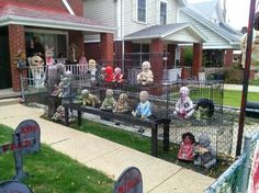 Photos: Festive or demonic? Halloween decorations spark... | www.wsbtv.com The people getting upset over this should really relax and get a sense of humor...