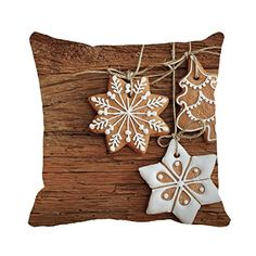 Tamengi Cotton Canvas Stars Cookies Square Decorative Throw Pillow Case Cushion Cover 2626 -- Check out the image by visiting the link.