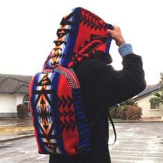 Image of Painted Warrior Pendleton Hooded Backpack