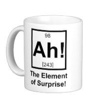 Ah the Element of Surprise Periodic Element Symbol Classic White Coffee Mug   Zazzle