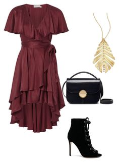 """""""Untitled #3572"""" by caffeinatedfashionista on Polyvore featuring Zimmermann, Gianvito Rossi, Marni and Hueb"""