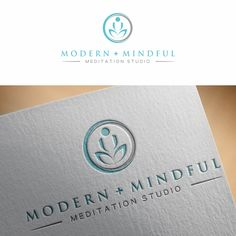 Logo for a new modern meditation studio in Canada by Arm14Click the link now to find the center in you with our amazing selections of items ranging from yoga apparel to meditation space decor!