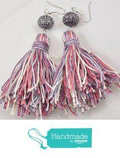 Tassel Earrings in lavender and pink from Jooniebeads Treasures https://www.amazon.com/dp/B01M2AQ7PH/ref=hnd_sw_r_pi_dp_nr7myb010R98K #handmadeatamazon