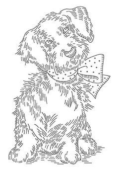 puppy embroidery design