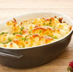 Diesen Low-Carb Auflauf mit Blumenkohl, gekochtem Schinken und Mozzarella und viele weitere einfache Auflauf-Rezepte zum Abendessen findest Du auf Vitalkochen.