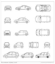 Free CAD Blocks – Cars 02 via @1starchitecture