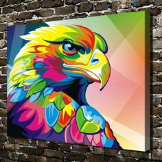 Simple Canvas Paintings, Diy Canvas Art, Colorful Paintings, Vexx Art, Pop Art, Indian Art Paintings, Arte Pop, Eagle Bird, Wall Pictures