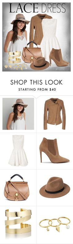 """Lovely Lace Dress"" by ina-kis ❤ liked on Polyvore featuring American Eagle Outfitters, LIU•JO, Lipsy, Ralph Lauren, Chloé, MANGO, Étoile Isabel Marant, Rebecca Minkoff, Kate Spade and white"
