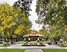 The Plaza in Healdsburg, CA.