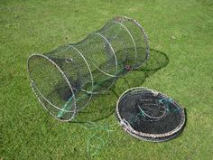 2 LARGE RON THOMPSON CRAYFISH TRAPS LIVE BAIT LOBSTER PRAWN CRAB DROP NET POT in Sporting Goods, Fishing, Other Fishing | eBay