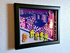 TMNT NES Game Shadowbox