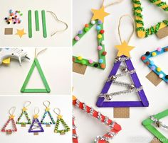 These popsicle stick Christmas trees are so much FUN! They're so easy to make and you can decorate them however you want!