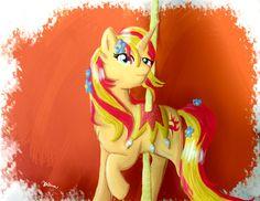 Carousel Pony - Sunset Shimmer by Katcooldraw.deviantart.com on @deviantART