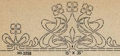 "Laurelhurst Craftsman Bungalow: Stencil design from ""Excelsior"" Fresco Stencil catalog from 1924."