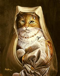 Goldie by Melinda Copper Cute Animal Memes, Cute Animals, Royal Animals, Fancy Cats, Ad Art, Cat People, Cat Drawing, Whimsical Art, Sculpture