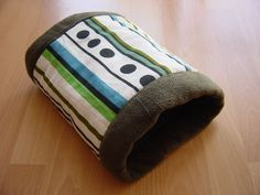"""Small animal tunnel tutorial - in German but pictures are clear.  Another reader said to make it larger - at least 20"""" wide un-sewn, if using for guinea pigs."""