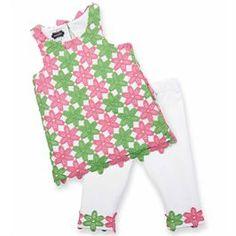 Daisy Crochet  Tunic &Capri Set | Baby | Mud Pie | $12.99