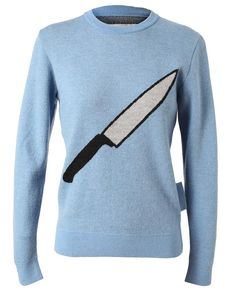 """Hahaa... I wish I'd been wearing this today. Julien David """"Knife"""" sweater."""
