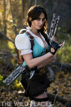 Steampunk Lara Croft escapes from The Wild Places