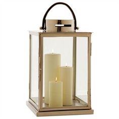 "ART Albany Metal Glass Lantern 24""Hx12"" square"