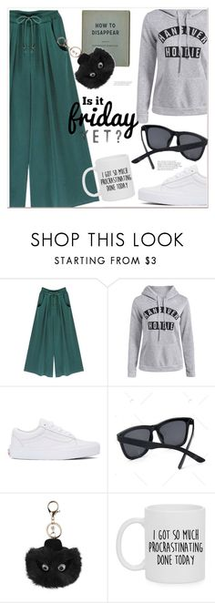 """""""Is it Friday yet?"""" by mycherryblossom ❤ liked on Polyvore featuring Vans and WALL"""