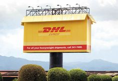 Great packaging: DHL Express Billboard Advertisement