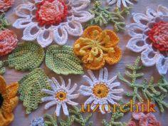 Crochet Motifs and flowers xo Crochet Motifs, Crochet Flower Patterns, Freeform Crochet, Thread Crochet, Love Crochet, Irish Crochet, Beautiful Crochet, Crochet Designs, Crochet Crafts