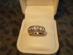 Diamonique Epiphany 14k Gold CZ Sterling silver 925 Ring
