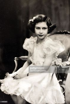 British Royalty, Princess Margaret Rose, circa 1938, the daughter of King George VI and Queen Elizabeth