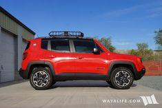 Thule AeroBlade Cross Bars & Rhino-Rack XTray Cargo Basket for Our Jeep Renegade