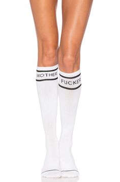 MOTHER The Ra Ra Knee High Socks in White Knee High Socks 78f95767f