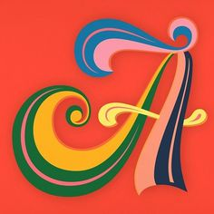 Superfunky 'A' by Martina Flor for letteringvscalligraphy.com