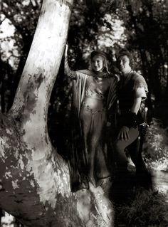 """Olivia de Havilland and Errol Flynn in """"The Adventures of Robin Hood"""""""