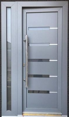 The plastic and aluminium doors manufactured by GAVAplast are characterized with modern design and excellent quality. Home Door Design, House Gate Design, Door Design Interior, Aluminium Door Design, Aluminium Windows And Doors, Modern Entrance Door, Modern Exterior Doors, Wooden Front Door Design, Wooden Front Doors