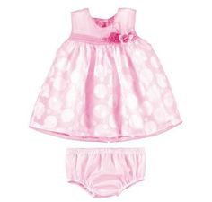 Mayoral Baby Girls Dress + Pants Set Pink Circles 1830