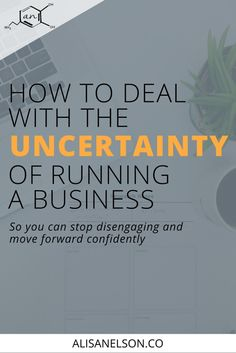 How to deal with the uncertainty of running a business - Alisa Nelson How To Handle Stress, Go It Alone, Effects Of Stress, Self Awareness, Best Relationship, Decision Making, Stress Management, Self Development, Exhibit