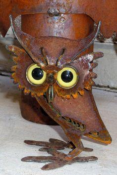 Owl -- favorite owl so far -- love the eyes -- Sol