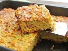 Sweet Potato and Bacon Slice recipe A yummy slice that the whole family will enjoy. Great for kids lunch boxes, or just something small to nibble on when the worms are biting. Sweet Potato Slices, Sweet Potato Recipes, Sweet Potato Frittata, Bacon Potato, Potato Pie, Vegetable Slice, Vegetable Recipes, Savory Snacks, Savoury Dishes