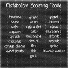 #metabolism boosting foods