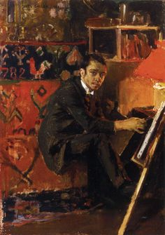 """Portrait of the Painter Eero Järnefelt"" (1888) by Akseli Gallen-Kallela"