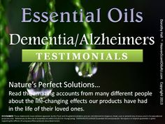 Hoping for the aging... memory, dementia, Alzheimer's  Young Living Oils CLICK HERE TO JOIN AND ORDER: https://www.youngliving.com/signup/?site=US&sponsorid=1066655&enrollerid=1066655
