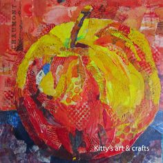 #collage #paper painting #mixed media Kittys art and crafts
