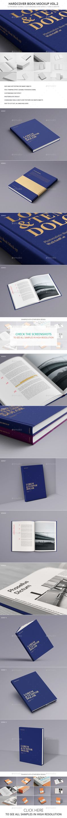 Book Mockup Vol.2 — Photoshop PSD #realistic #foil • Available here → https://graphicriver.net/item/book-mockup-vol2/14383747?ref=pxcr