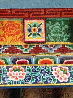 Colorfest on Buddhist monastery walls