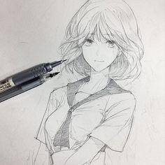 손그림 - 2019 como desenhar anime, como desenhar mangá 및 ideias para desenho. Manga Drawing, Manga Art, Drawing Sketches, Art Drawings, Manga Anime, Anime Art, Anime Fashion, Character Art, Character Design